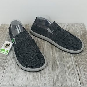 New Sanuk Yew Knit Gray Shoes, Mens Size 11